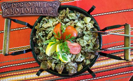 Сач по избор в Храбрино - джулбастия със свински джолан или сиромашки пилешки сач