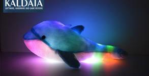 Светещ плюшен делфин - с LED светлини