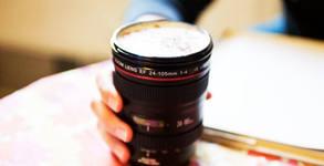 Термо чаша с форма на фотообектив