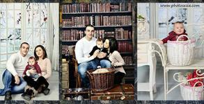 Семейна или детска студийна фотосесия с 160-180 кадъра - без или със фотокнига