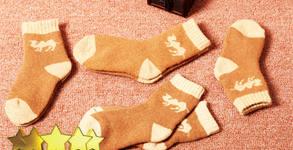 Детски чорапи от камилска вълна, произведени в Монголия
