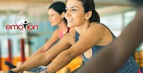 Месечна карта с неограничен брой посещения на фитнес, плюс 5 тренировки с инструктор и 5 часа сауна