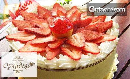 Еклерова торта от 10 парчета - с шоколад или с пресни ягоди