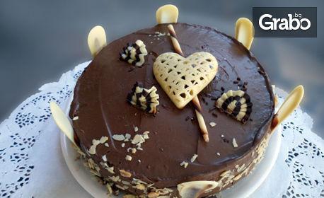 """Цяла шоколадова торта """"Романтика"""" или Боровинкова торта"""