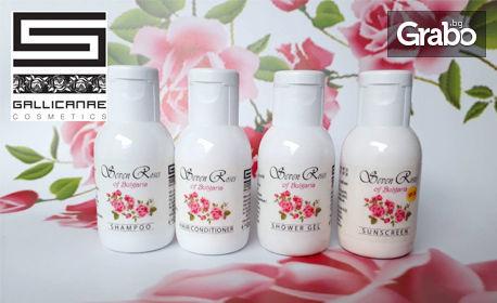 Комплект за пътуване Seven Roses с 4 натурални козметични продукта