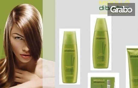 Бамбукова терапия за увредена и късаща се коса, плюс подстригване и сешоар, от Салон Зорница