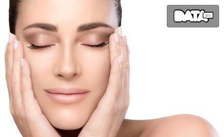 Диамантено микродермабразио на лице, шия и деколте, плюс неинжективна мезотерапия