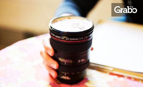 Термо чаша във формата на фотообектив