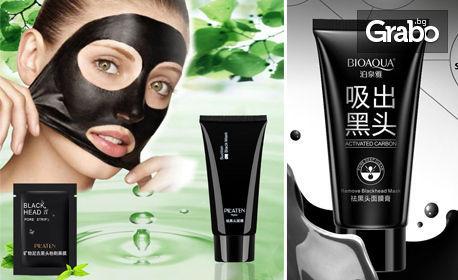 Черна маска за лице за трайно премахване на акне, черни точки и разширени пори - Pilaten или Bioaqua