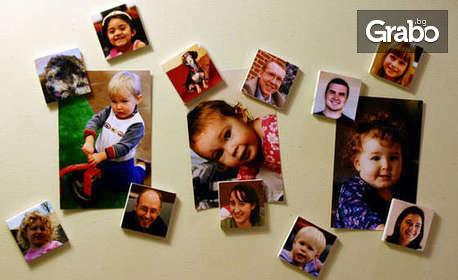 Сладки спомени! 4 или 8 фотомагнитчета с ваша снимка