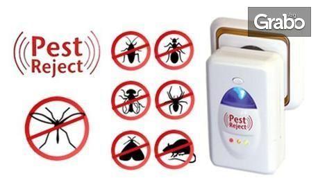 Ултразвуков уред против насекоми и гризачи Pest Reject за площ до 200кв.м