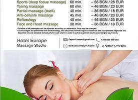 Massage studio Hotel Europe