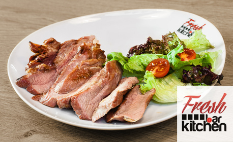 Комбо меню с пилешко, свинско или пуешко месце или пъстърва