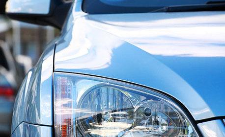Външно полиране и запечатване на 2 броя фарове на автомобил
