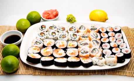 Хапване за дома или офиса! Суши сет с 40, 60 или 86 хапки