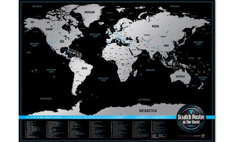 e34c9a14ee4 Уникален подарък за всеки пътешественик! Скреч карта 101 с най-невероятните  места по света, от Creative Egg