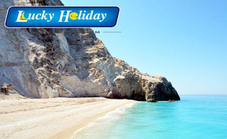 Майски празници на остров Лефкада! 3 нощувки със закуски и вечери, плюс транспорт