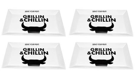 Луксозно плато Gusta от серията Grillin & Chillin BBQ - 1 или 4 броя