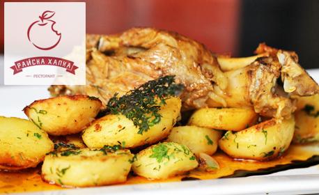 850гр апетитно хапване! Шпикован свински джолан с картофи по баварски