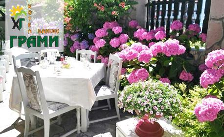 В Банско през Април и Май! Нощувка със закуска и вечеря, плюс ползване на релакс зона