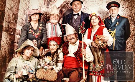 Коледна фотосесия в автентичен български костюм