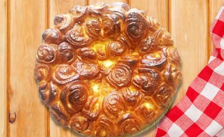 Кекс Мозайка или солена питка Роза със сирене