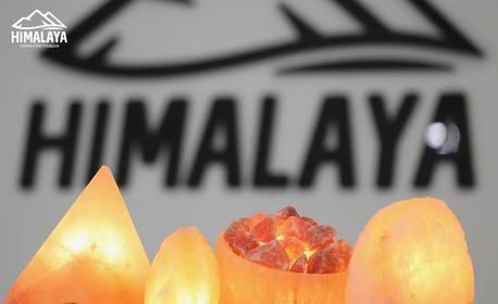 Свещник или лампа от хималайска сол, плюс солна терапия за дете или възрастен