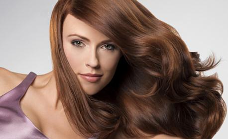 Възстановяваща грижа за косата или боядисване - без или със подстригване