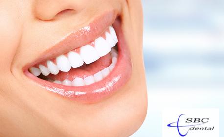 Почистване на зъбен камък и плака с ултразвуков апарат, плюс полиране на зъбите и обстоен орален преглед
