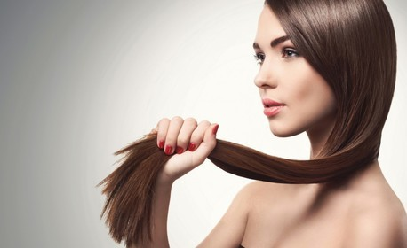 Брюлаж на коса за премахване на нацъфтелите краища, плюс маска, масаж и прическа