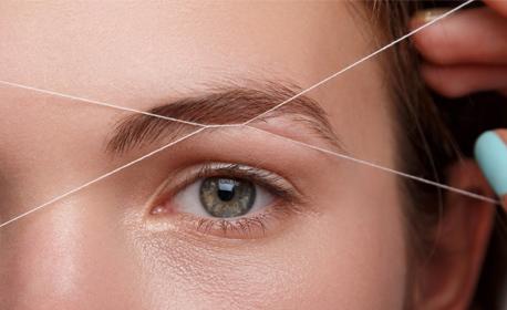 """Оформяне на вежди с конец и боядисване с къна, или удължаване и сгъстяване на мигли по метода """"косъм по косъм"""""""