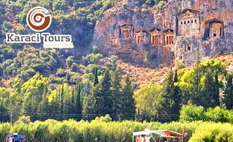 Екскурзия до Кушадасъ, Памуккале, Фетие, Бодрум и Ефес! 7 нощувки със закуски и вечери, плюс самолетен и автобусен транспорт