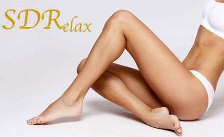 Антицелулитен масаж на бедра, седалище и паласки