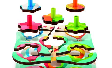 """Детска дървена играчка Hape - пъзел """"Балони"""""""