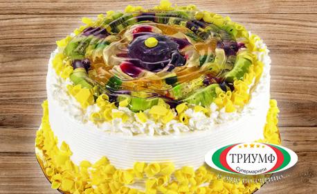 Плодова торта Триумф с 4 парчета