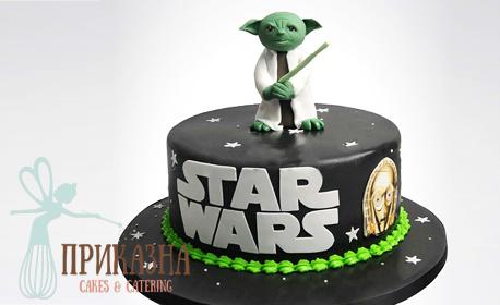 Детска 3D торта Мини Маус или Star Wars - с 14 парчета и пълнеж по избор