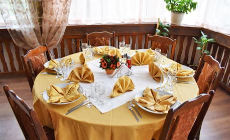 Релакс край Костенец! 5 нощувки със закуски, обеди и вечери, плюс преглед и по 2 процедури на ден