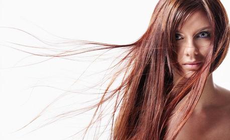 Масажно измиване и възстановяваща терапия за коса, плюс премахване на нацъфтелите краища и оформяне