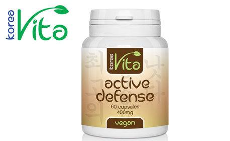 Хранителна добавка Active defense за чисти бели дробове - 60 веган капсули