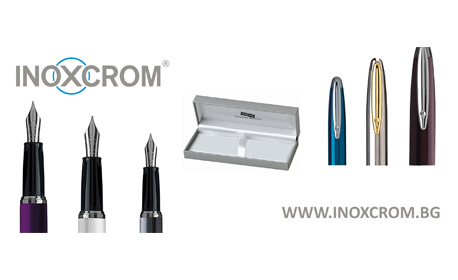 Изискан подарък за празниците! Гравирана писалка Inoxcrom Zeppelin с метален корпус в цвят по избор, плюс 5 патрончета с мастило