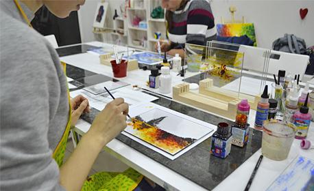 3 часа рисуване на 3D картина върху стъкло - на 20 Май