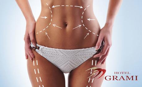 Антицелулитен масаж с вакуум и магнитни ролки на бедра и ханш - 10 или 15 процедури