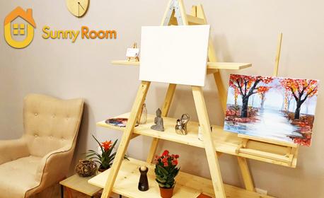 1, 3 или 5 посещения на творческа вечер с рисуване върху платно, плюс чаша вино или бира