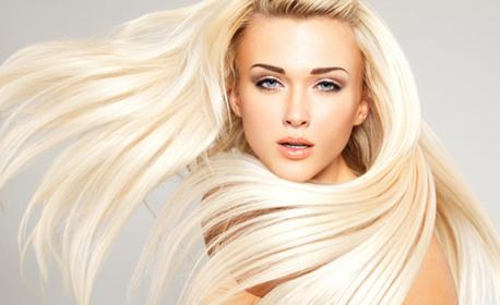 Масажно измиване на коса, подхранваща ампула и оформяне
