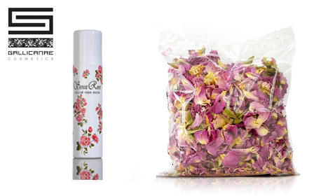 Красива със Seven Roses! Био сертифициран розов цвят, натурална розова вода или комплект с продукти за пътуване