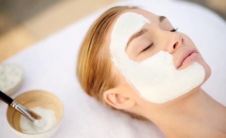 Почистване на лице с ултразвукова шпатула и терапия с органични продукти на Dr Renaud