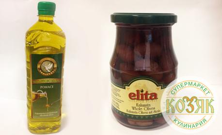1 литър маслиново масло Peristeri Pomace, плюс 380гр маслини Каламата