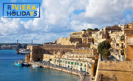 През Октомври в Малта! 4 нощувки със закуски в Буджиба, плюс самолетен транспорт и възможност за остров Сицилия