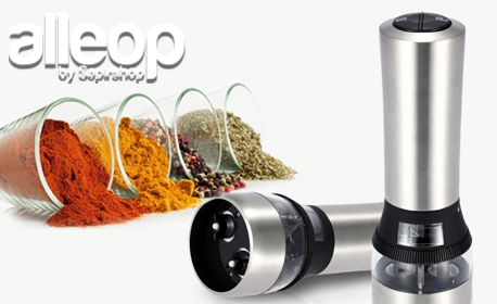 Електрическа мелничка за сол и пипер Zephyr 2в1 с регулатор на смилане