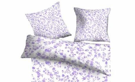 Единичен, двоен или макси спален комплект от Cotton plus, в цвят по избор